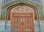 درب چوبی سنتی ورودی مسجد،نمازخانه واماکن مذهبی گره چینی