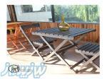 میزوصندلی چوبی تاشو و استند
