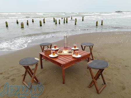 تولید و پخش میز و صندلی تاشو مسافرتی 2 نفره و 4 نفره همراه با کباب پز تاشو