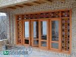 پنجره سنتی چوبی اُرُسی شیشه رنگی صنایع چوب ساج مدل W202