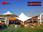سازه چادری غشا -اجرای سقف رستوران و سایه بان تراس کافه