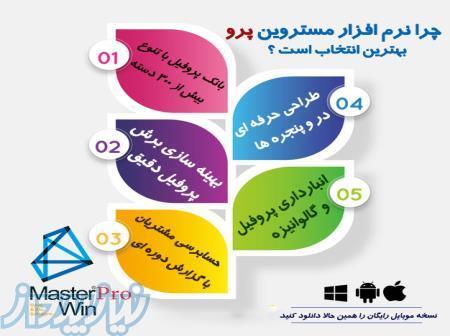 Master Win Software نرم افزار طراحی درب و پنجره و فروش در و پنجره یو پی وی سی و آلومینیوم