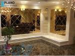 آینه کاری دیوار و ستون - نصب آینه سقف