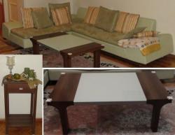مبل راحتی مدل ال میز وسط میز کشودار - تهران