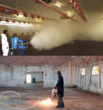 دستگاه سمپاش فوگر (مه پاش گرم) جهت ضدعفونی و شعله افکنی فارم مرغداری