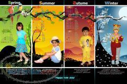 تقویم با طرحهای کودکانه