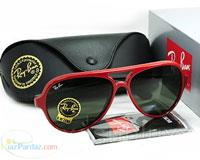 فوق العاده فوق العاده  عینک ریبن کت قرمز اصل ایتالیا uv 400