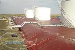 ایزولاسیون پوشش ثانویه مخازن ایزولاسیون مخازن نفتی با ژئوممبران