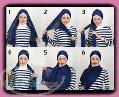 آموزش کامل تصویری بستن روسری و شال