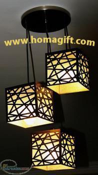 فروش لوستر – لوستر چوبی و چراغ روشنایی