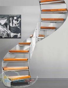 اذر استپ طراح و مجری پله گرد و پله پیچ