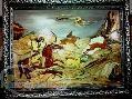 تابلوی معرق و منبت شکارگاه بهرام گور ( مبلمان منزل)