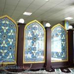 ثامن اولين توليد کننده محراب چوبي و MDF و کتيبه چوبي MDF و تجهيزات نوين نماز خانه در ايران