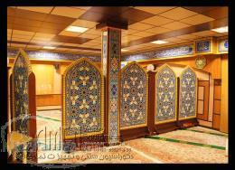 کتیبه چوبی دکوراسیون سنتی پارتیشن متحرک در تهران
