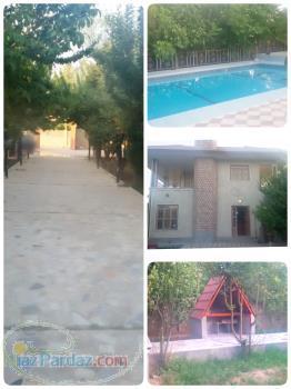 اجاره روزانه باغ استخر دار همراه با ویلا مبله لوکس در شیراز 09335572705(مرادی)