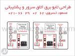 طراحی تابلو برق اتاق سرور و پشتیبانی  - تهران