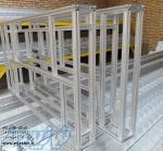 پروفیل های آلومینیومی مهندسی شیاردار در سایزهای مختلف