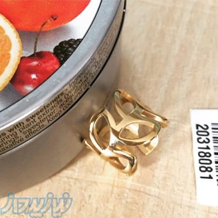 انگشتر عمده برگی طلایی