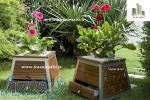 فلاورباکس مشهد و گلدان چوبی