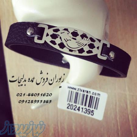 عمده دستبند چرم و پلاک مرغ آمین در زیوران