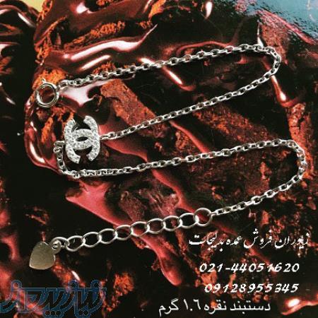 فروش عمده دستبند نقره چنل با نگینهای میکروستینگ
