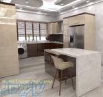 طراحی سه بعدی (3D) دکوراسیون داخلی و کابینت