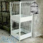 قفس دو طبقه تمام فلز لاری