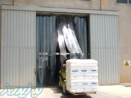 تولید و فروش پرده صنعتی PVC - طلق نرم شفاف PVC - نوار پرده صنعتی PVC
