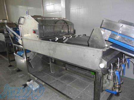 ماشین آلات شستشو سبزی کامل مکانیزه استیل سبزیجات برگی