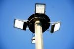 پایه چراغ 9متری با سبد متحرک -48وات دوسال گارانتی