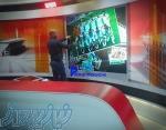 ویدئو وال لمسی بدون درز برنامه میدان شبکه ورزش touch video wall